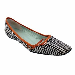Sigerson Morrison Check Plaid Kitten Flat SZ 9.5""